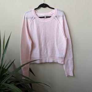 Banana Republic Long Sleeve Pink Raglan Sweater XL
